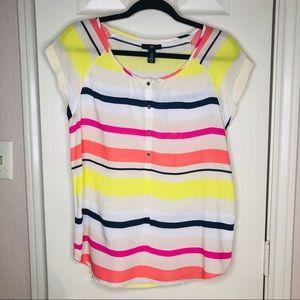 Gap Soft Color Stripe Top Shortsleeved Shirt